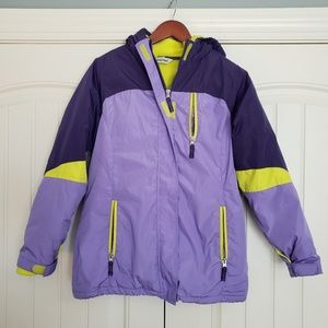 NWOT Lands End Youth Purple 2 in 1 Winter Coat, 14
